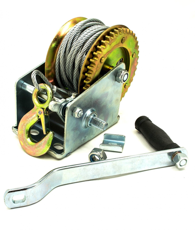 how to make a hand crank winch