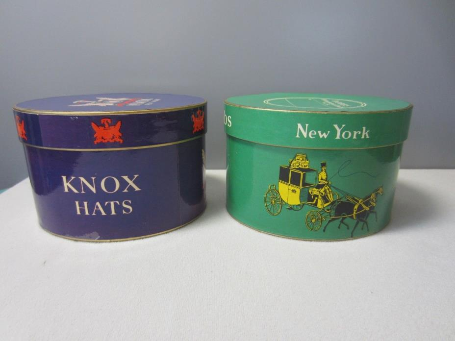 Vintage miniature hat boxes Knox, Dobbs