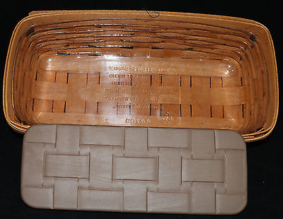 Longaberger 1994 Bread Basket and Warming Brick