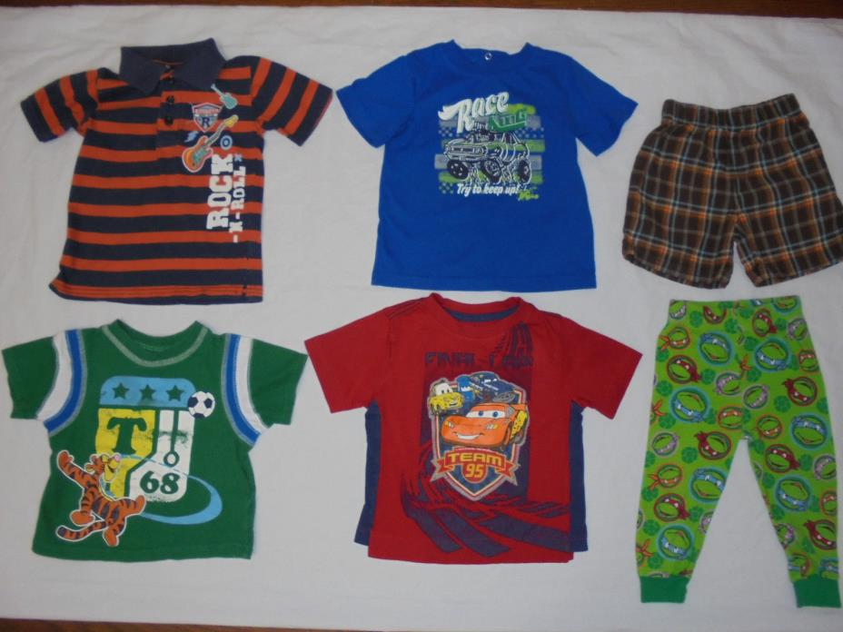 Toddler Boy Clothes Size 2T Lot Of 6