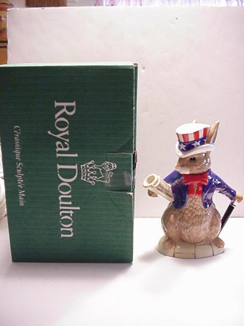 Royal Doulton Bunnykins USA President Teapot OB