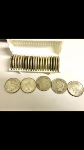 Morgan Dollar 1882-1900, Peace Silver Dollars 1921-1923, Lot Of 25