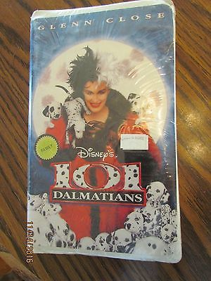 Walt Disney Movie 101 Dalmatians Glenn Close  Sealed VHS Clamshell