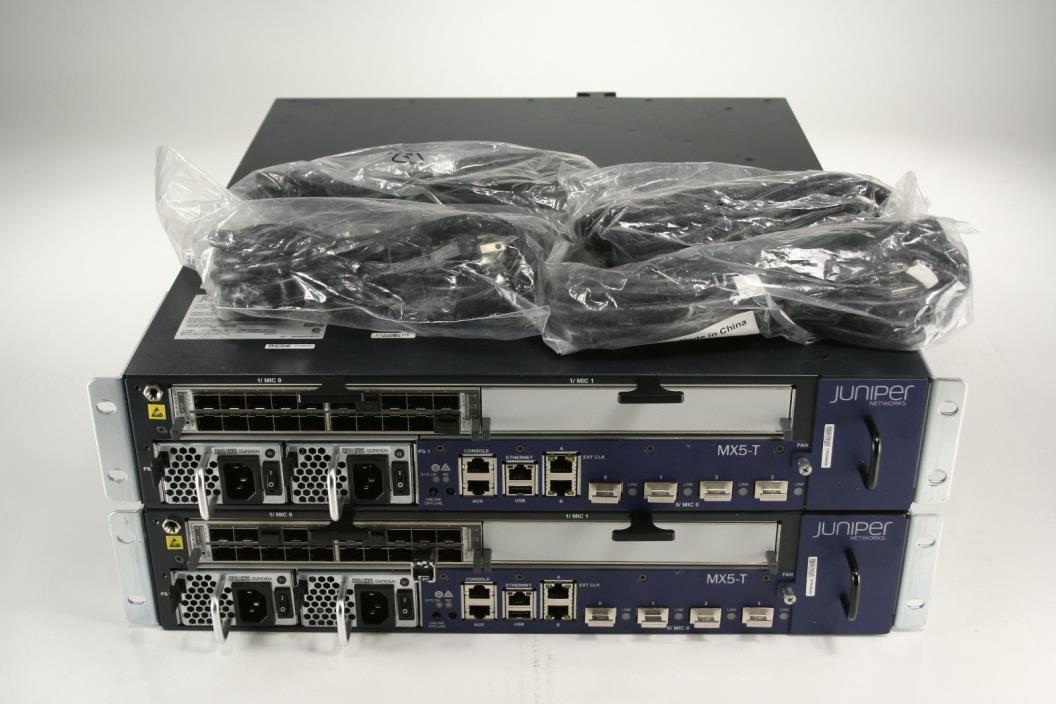 Juniper Networks MX80-T-AC Router - MX5-T Upgraded - 20x 1GbE MIC - Timing 2PSU