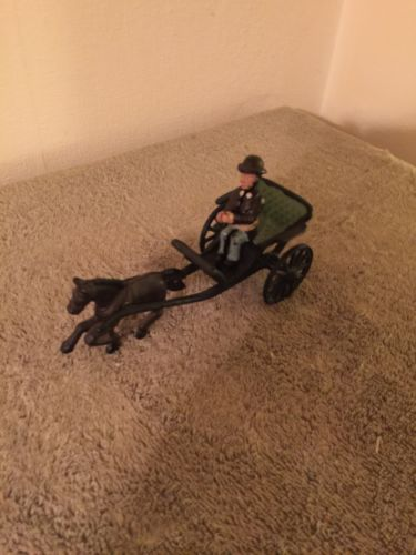 Vintage Cast Iron Horse And Buggy