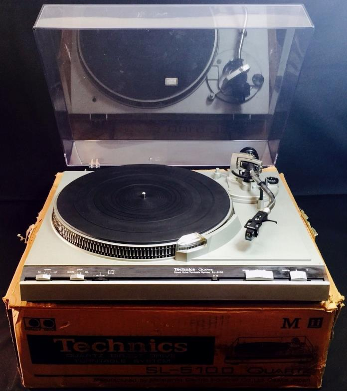 Vintage Technics SL-5100 Quartz Direct Drive DJ Turntable Record Player