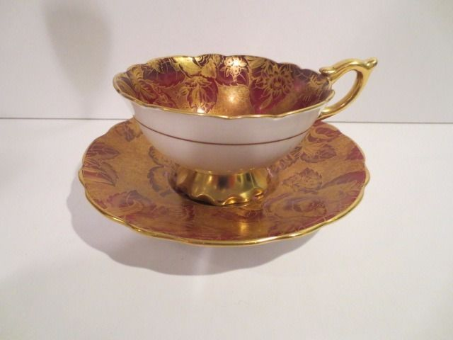 Gorgeous Scarce Royal Stafford Tapestry Chintz Cup & Saucer