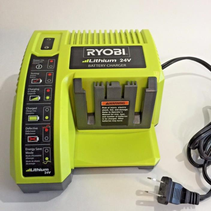 RYOBI 24-VOLT LITHIUM Battery Charger OP140 Tested Fast Free Shipping