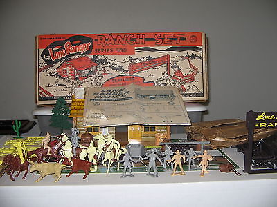 Marx Lone Ranger Ranch playset (complete & near mint )