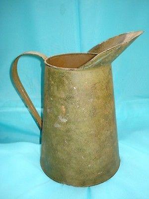 Vintage  copper color pitcher for home decor