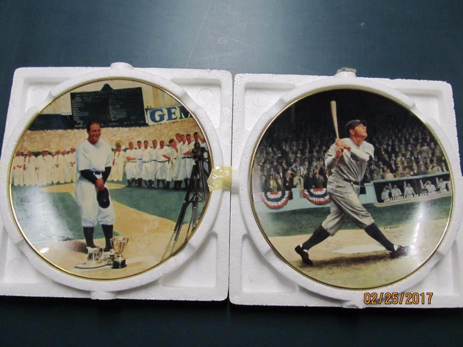 BABE RUTH & LOU  GEHRING Collector Plate
