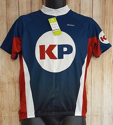 Primal Wear Mens Womens Unisex Size M Jersey Full Zip Front Racing Cycling Shirt