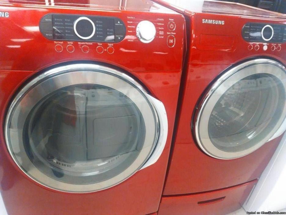 Samsung VRT Washer Dryer with steam (RED)