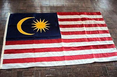 MALAYSIA - Annin Nyl-Glo 100% NYLON Bunting LARGE 8 x 5 Foot QUALITY Flag