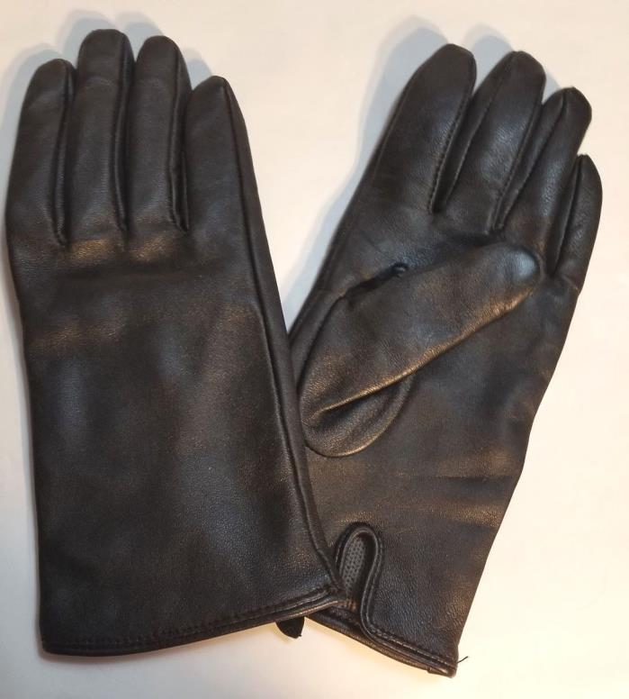 WORTHINGTON LEATHER BLACK WOMEN GLOVES 9