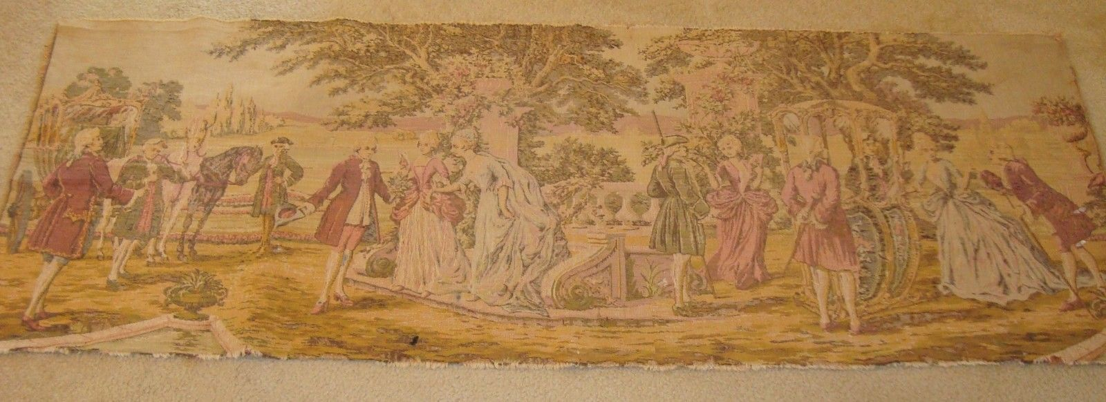 French tapestry jacquard decor Boucher mid 1900 H: 23.5/ W: 61
