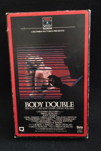 BODY DOUBLE Beta BETAMAX Brian DePalma Melanie Griffith RARE OOP