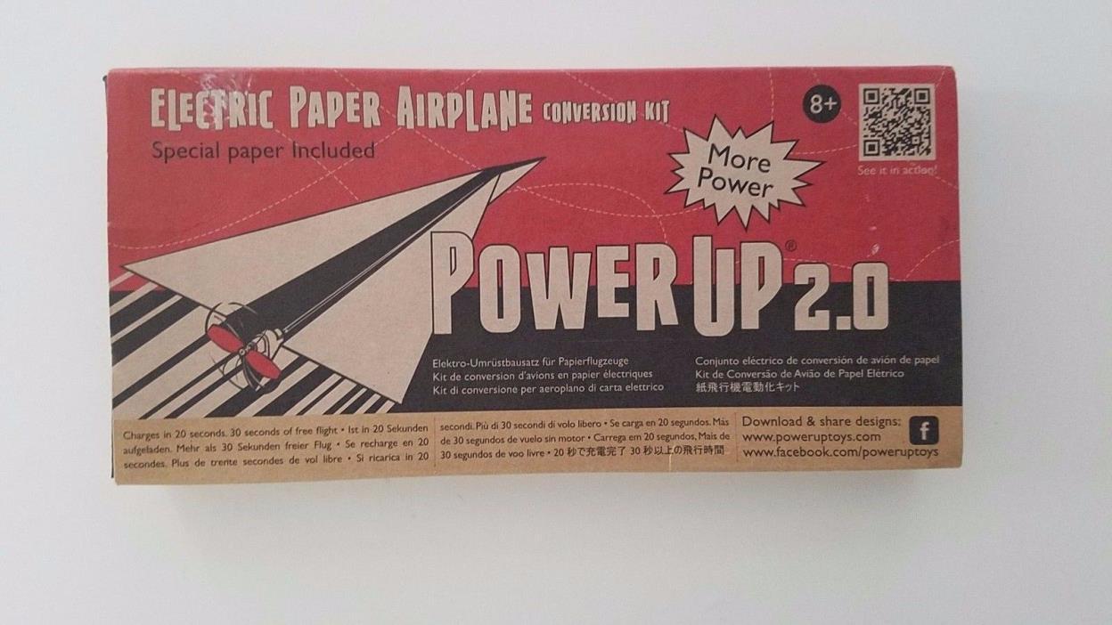 PowerUp 2.0 Electric Paper Airplane Conversion Kit  Plane NIB! Free Shipping!