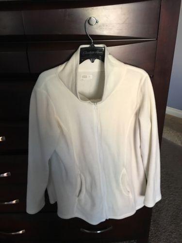 Old Navy Cream Fleece Maternity Zip Up Jacket