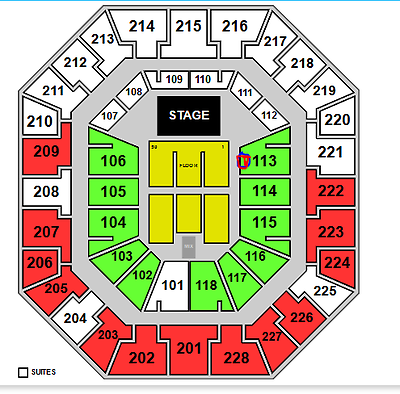 3 Red Hot Chili Peppers tickets lower level near stage - Sec 113 Row 4