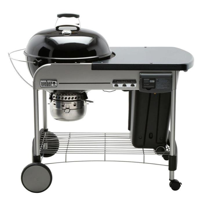 Weber 15501001 Performer Deluxe 22 in. Charcoal Grill in Black NIB