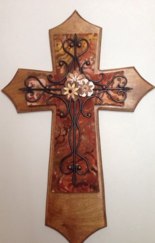 Handmade decorated wooden cross