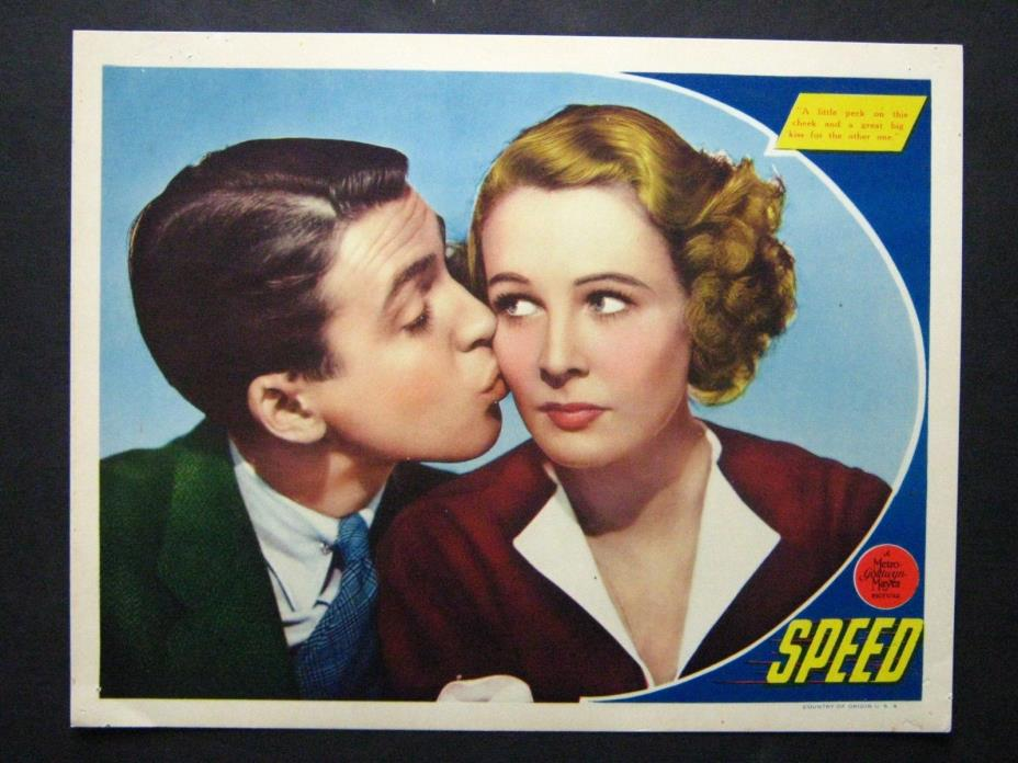 SPEED '36 JAMES STEWART WENDY BARRIE PORTRAIT LC BEST CARD IN THE SET RARE!