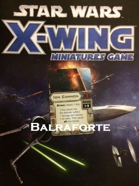X-Wing Miniatures Ion Cannon cannon upgrade card