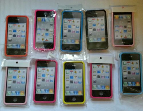 PLASTIC CASE FOR IPHONE 4, 4S multiple colors available