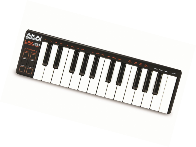 Akai Professional LPK25 | 25-Key Ultra-Portable USB MIDI Keyboard Controller for