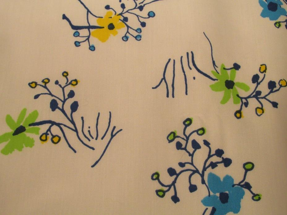 NOS LILLY PULITZER Steffy by Zuzek Key West Hand Print Fabrics Inc. almost 1 yd