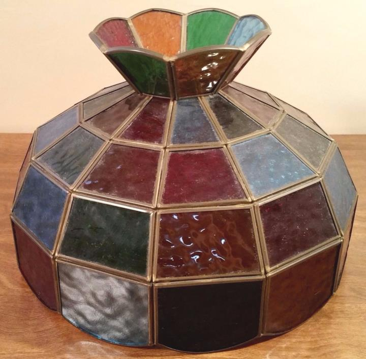 Vintage Stained Glass Light Lamp Shade
