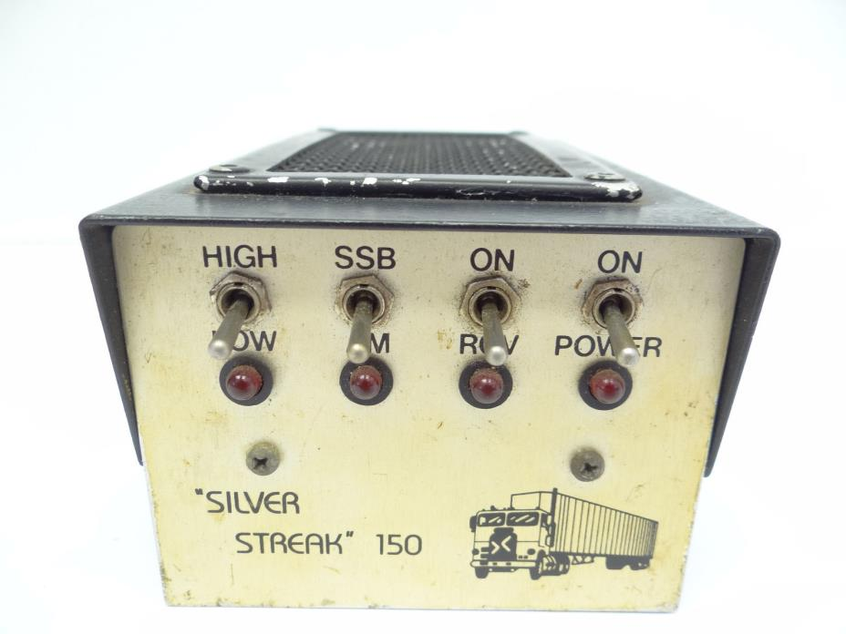 Vintage Silver Streak 150 CB Radio Trucker Control Switch Linear Amplifier Parts