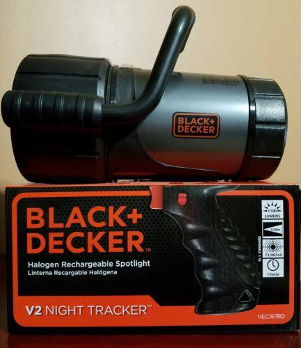 Black & Decker V2 Halogen Rechargeable Spotlight 1100 Lumens Flashlight
