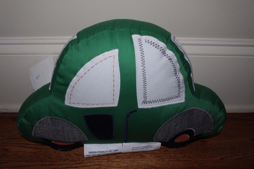 NWT Pottery Barn Kids Decorative Car pillow green