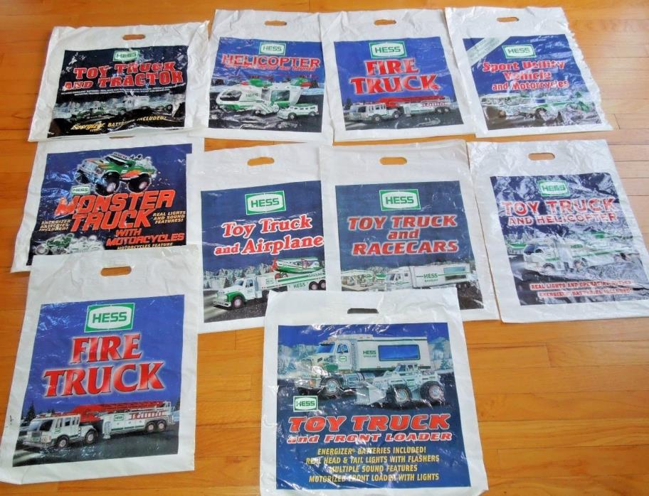 Lot of 10 HESS TRUCK BAGS!! RARE VINTAGE