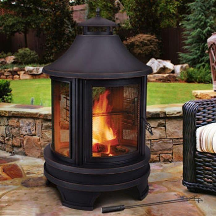 Outdoor Patio BBQ Cooking Firepit Fire Pit Fireplace Heater Furniture NEW