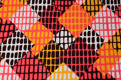 Vintage 60s 70s Fabric Op Art Geometric Psychedelic Mod 1 3/4 Yard x 60
