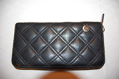 $425 MARC JACOBS Zip Around Leather Wallet Clutch