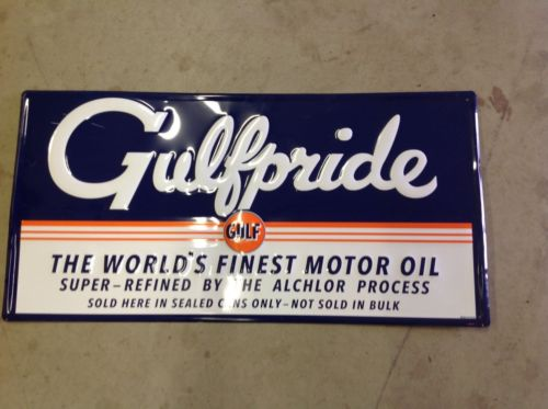 Gulf Pride Tin Sign