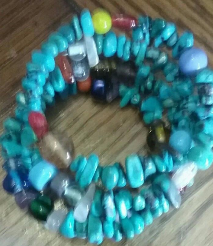 Southwest jewelry.  Turquoise beaded bracelet