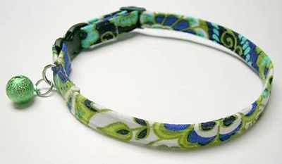 Rhythm and Blues safety break away CAT COLLAR made with Vera Bradley fabric USA