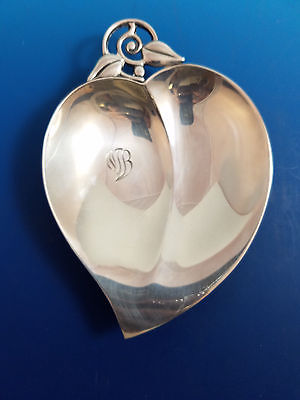 Tiffany & Co. Makers Sterling Silver Heart Shaped Bowl
