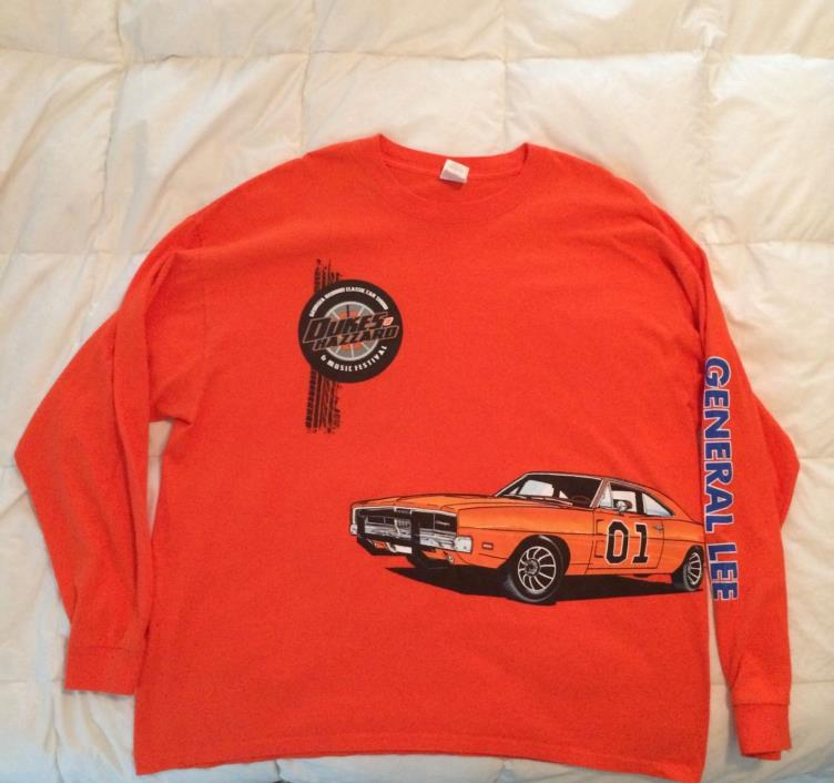 Dukes of Hazzard General Lee GA Car Show & Music Festival T-Shirt Orange
