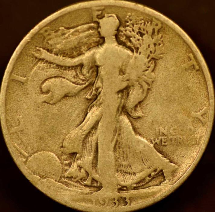 1933-S Walking Liberty Half Dollar Very Good
