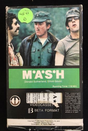 MASH 1969 Film On BETAMAX Beta Tape M*A*S*H OOP Hard To Find!