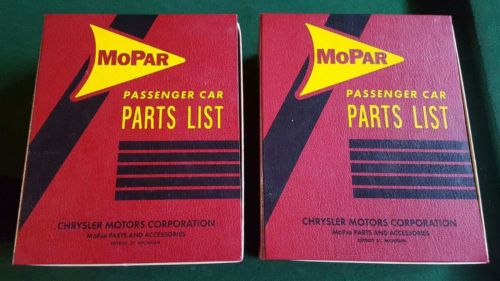 Mopar Passenger Car Parts List Glasses - Excellent condition - Dodge - LOOK