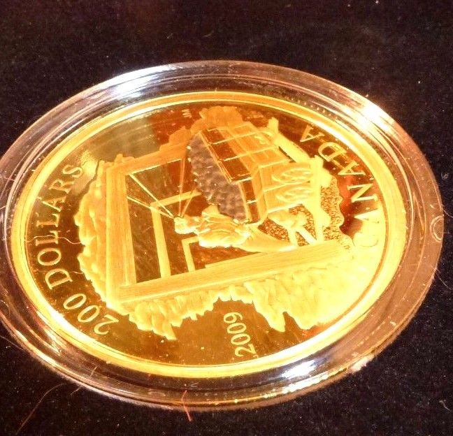 2009 Canada $200 Gold and 20$ Silver Coin - Coal Mining Trade Set of 2 coins