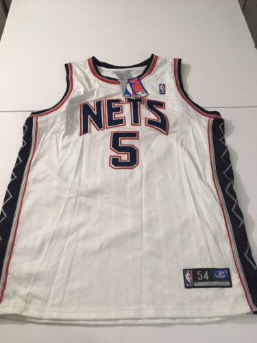 VINTAGE REEBOK NBA NEW JERSEY NETS JASON KIDD #5 JERSEY  2XL RARE WHITE