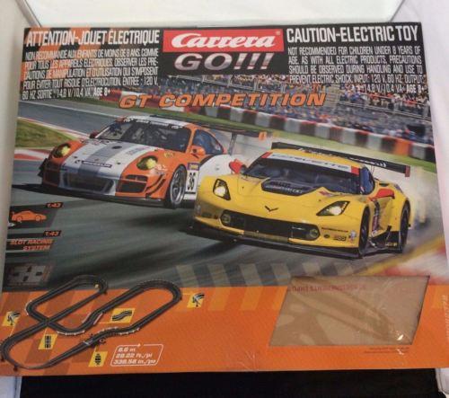 Carrera Go GT Competition Electric Slot 1:43 Car Set Kit Porsche Corvette